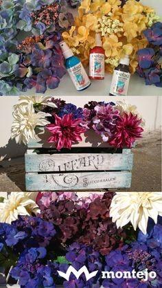Flores tela tintadas