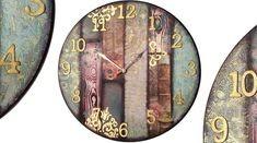 Reloj decorado con decoupage